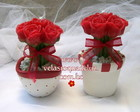 VE010086 - BUQU� DE ROSAS NO VASO