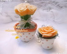 CONJUNTO BUQU + ROSA  ESPECIAL NO VASO