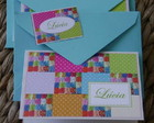 Cart�o Patchwork Fuxico