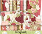 Kit digital Morango- Scrapbook