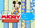 kit scrapbook digital Mickey Mouse- Baby