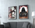 Kit 2 Posters Star Wars com moldura