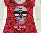 T shirt Caveira Chanel