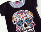 T shirt Caveira Mexicana- Black