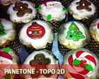 Panetone PP - (forma 100g) - Topo 2D