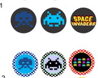 Space Invaders 25 Toppers Adesivos
