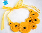Colar CRCULOS AMARELO