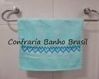Toalha azul com corao