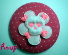 BOTTON SKULL FLOWER - 5,5CM