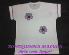 CAMISETA BABBY LOOK - MARGARIDAS