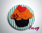 BOTTON CUPCAKE FLOWER - 5,5CM