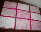 CADERNO DE MENSAGENS PATCHWORK PINK