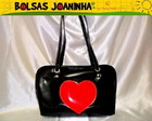 CORAO VERMELHO BOLSA OMBRO PRETA