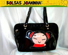 PUCCA BOLSA OMBRO PRETA
