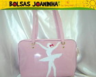 BAILARINA BRANCA BOLSA OMBRO ROSA