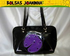 JOANINHA ROXA BOLSA OMBRO PRETA