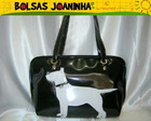 BULL TERRIER BRANCO BOLSA DE OMBRO PRETA