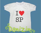 "T-Shirt Beb� e Infantil ""I Love SP"""