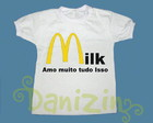 T-Shirt Beb e Infantil MILK