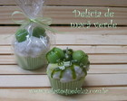 DELCIA DE MA VERDE - VELA CUPCAKE &quot;G&quot;