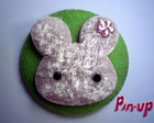 BOTTON PINK RABBIT -5,5CM