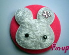 BOTTON WHITE RABBIT - 5,5CM