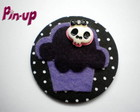 BOTTON &quot;SKULL CUPCAKE&quot; - 5,5CM