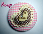BOTTON  &quot;I LOVE YOU&quot; - 5,5CM
