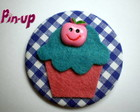 BOTTON CUPCAKE SORRISO - 5,5CM