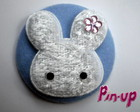 BUTTON BLUE RABBIT