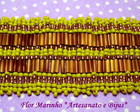 BRACELETE DE CANUTILHOS **AMARELO**