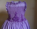 Belissimo vestido tafet lilas