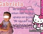 Convite hello kitty personalizado