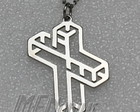 Crucifixo &quot;3d&quot; Ao Inox