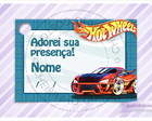 Cart�o - Tag Anivers�rio Hot Wheels