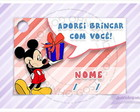 Cart�o - Tag Anivers�rio Mickey