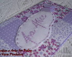 PORTA DOCUMENTOS PATCHWORK LILAS