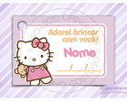 Cart�o - Tag Anivers�rio Hello Kitty