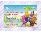 Cart�o - Tag Anivers�rio Backyardigans