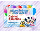 Cart�o - Tag Anivers�rio Baby Disney
