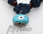 Colar Blue Cable Olho Grego