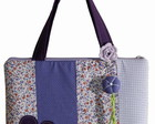 Bolsa notebook patchwork lils/roxo