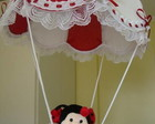 LUSTRE BALO INFANTIL VERMELHO JOANINHA