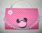 convite bolsa Minie Mouse