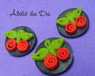 Broches Cerejas!