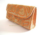 Clutch renda renascena ocre