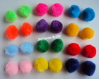 Pom pons com elstico (10 pares)