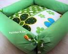 Cama Pet Flores - verde