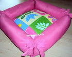 Cama Pet Flores - rosa