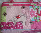 bolsa patch rosa de gatinho